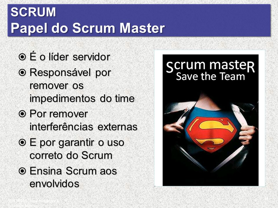 SCRUM Papel do Scrum Master