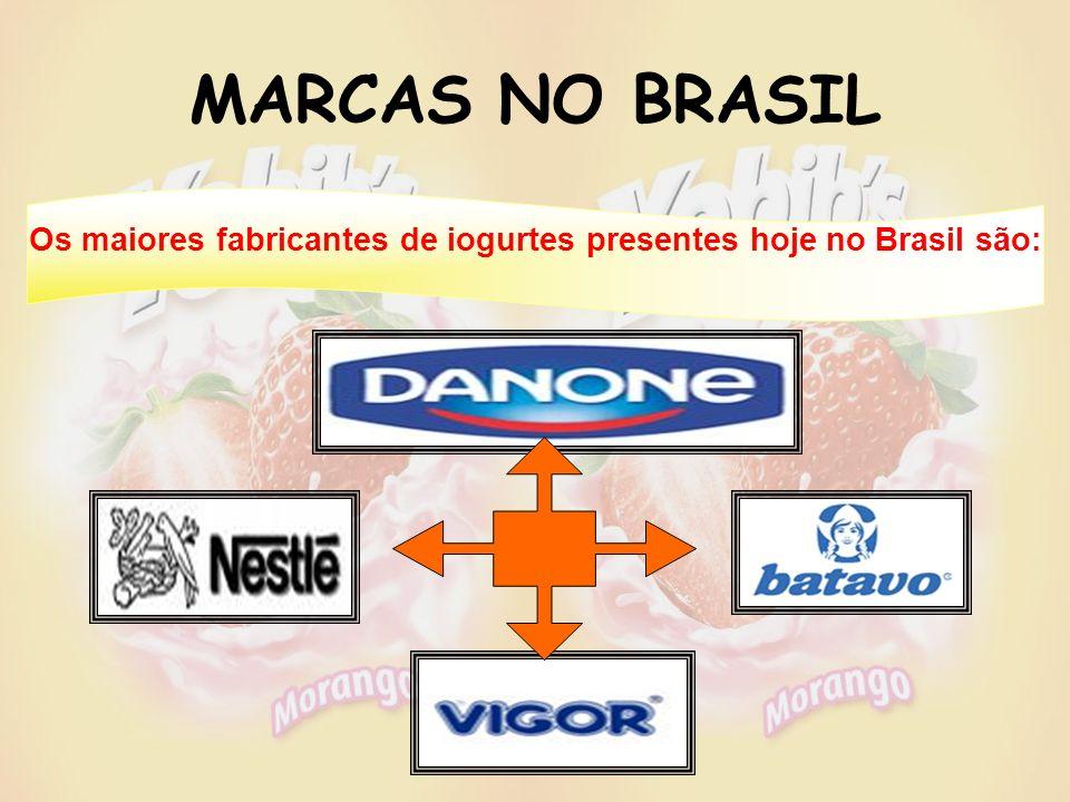 Os maiores fabricantes de iogurtes presentes hoje no Brasil são: