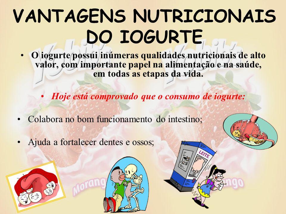 VANTAGENS NUTRICIONAIS DO IOGURTE