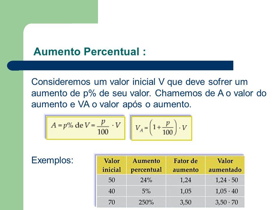 Aumento Percentual :
