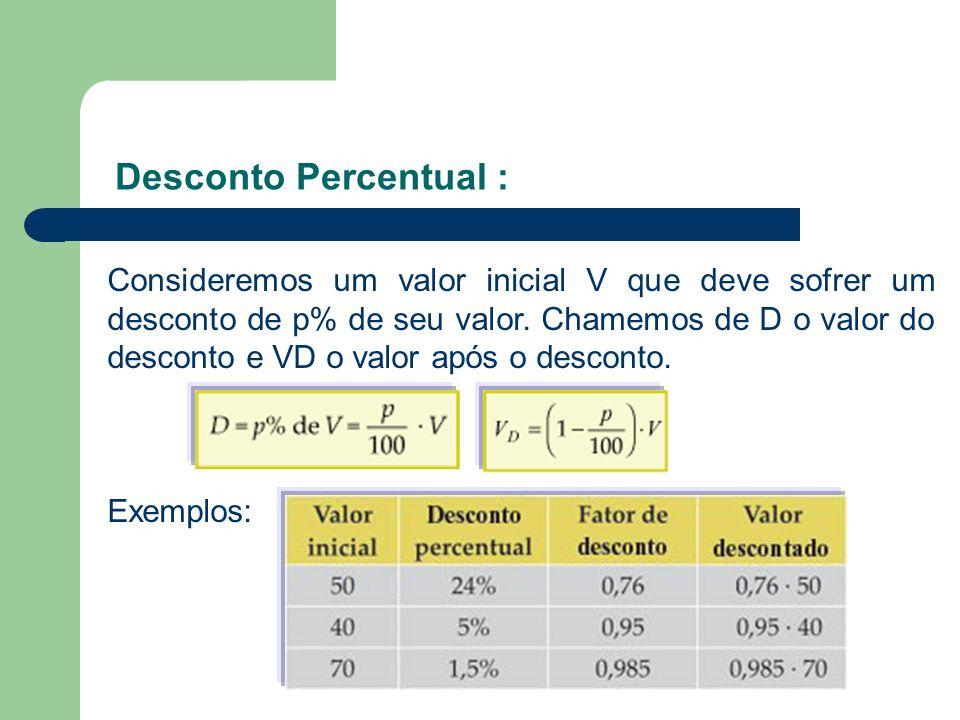 Desconto Percentual :