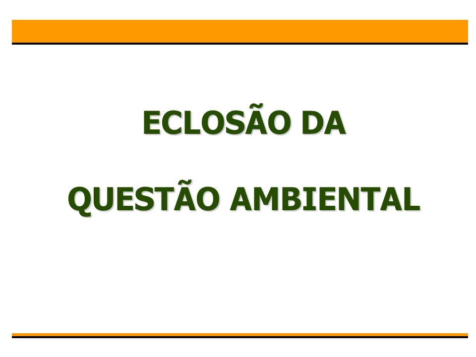 ECLOSÃO DA QUESTÃO AMBIENTAL