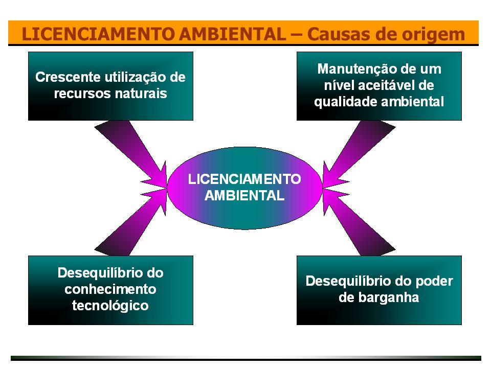 LICENCIAMENTO AMBIENTAL – Causas de origem