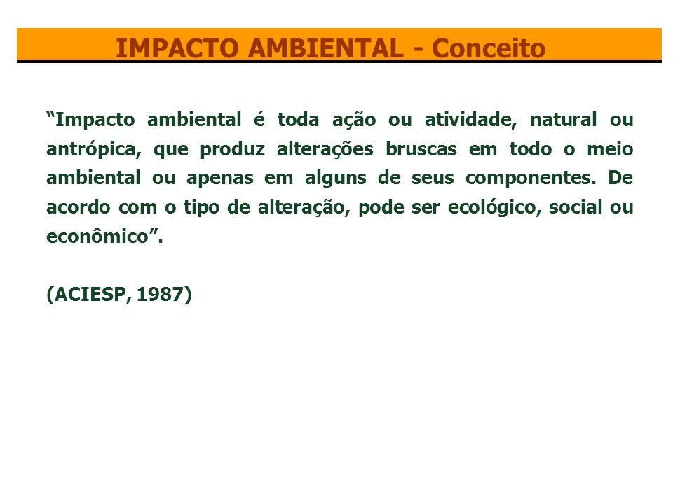 IMPACTO AMBIENTAL - Conceito