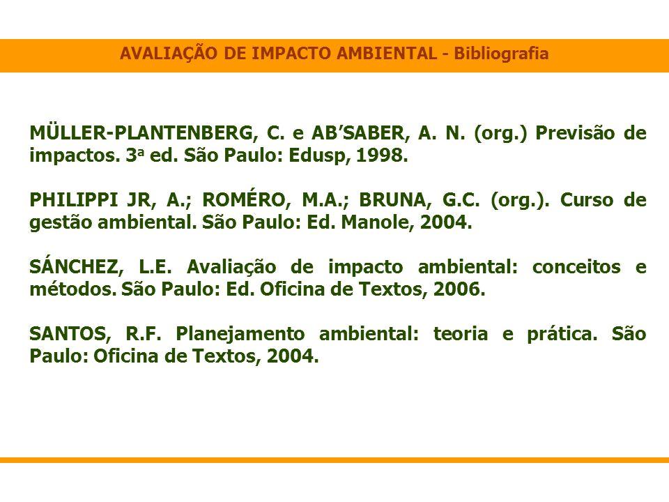 AVALIAÇÃO DE IMPACTO AMBIENTAL - Bibliografia