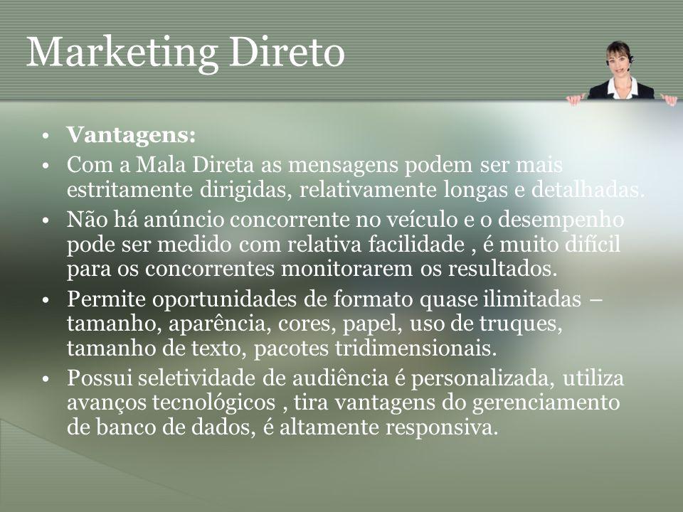 Marketing Direto Vantagens: