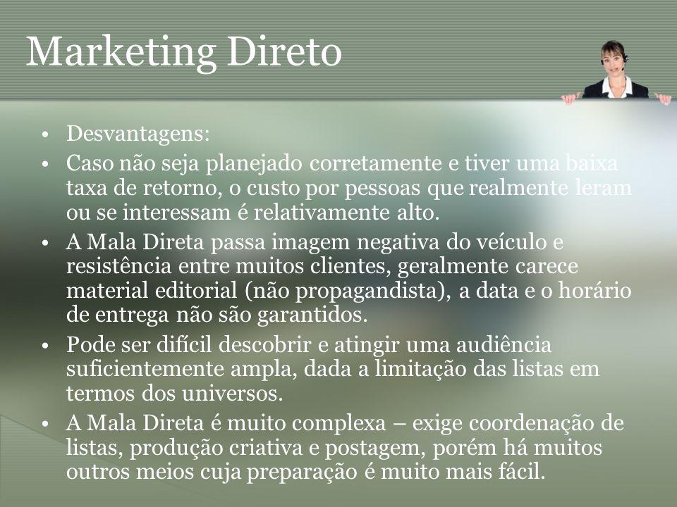 Marketing Direto Desvantagens:
