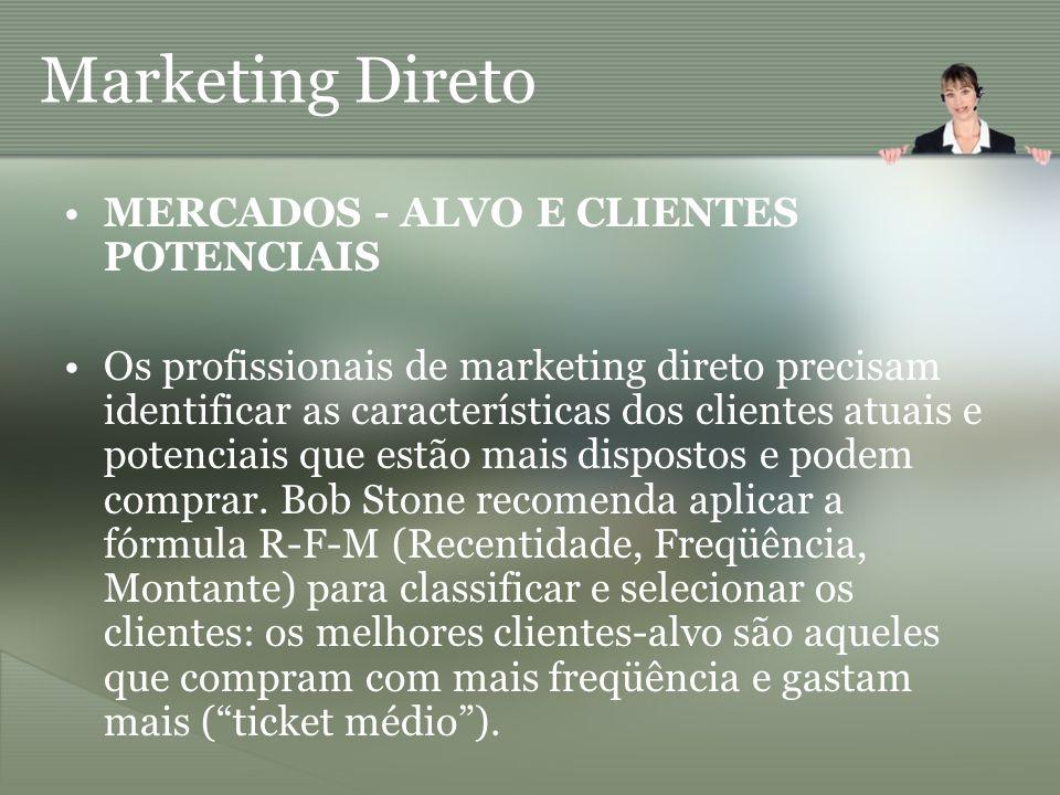 Marketing Direto MERCADOS - ALVO E CLIENTES POTENCIAIS