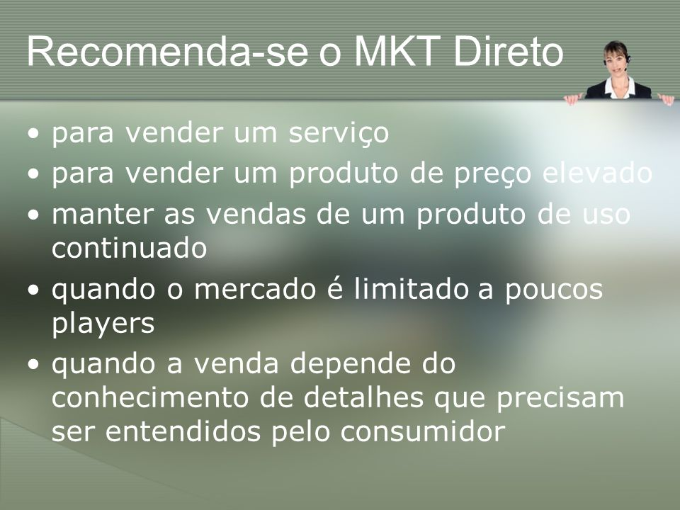 Recomenda-se o MKT Direto