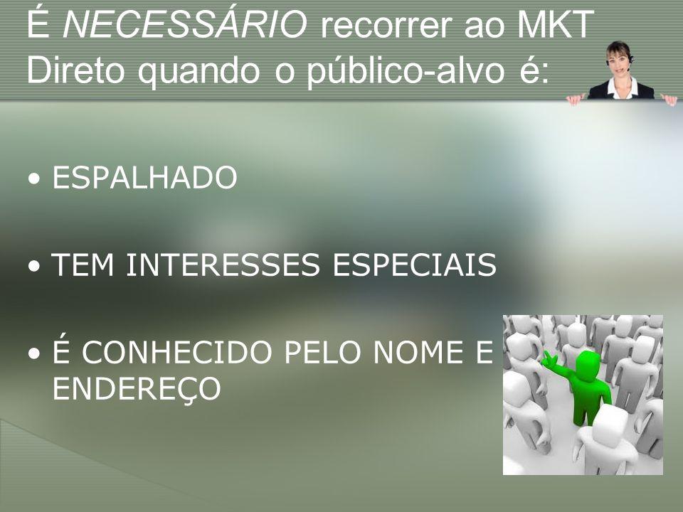 É NECESSÁRIO recorrer ao MKT Direto quando o público-alvo é: