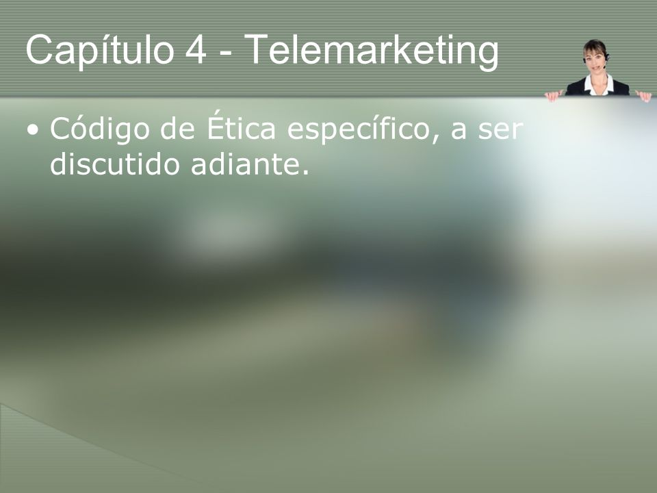 Capítulo 4 - Telemarketing