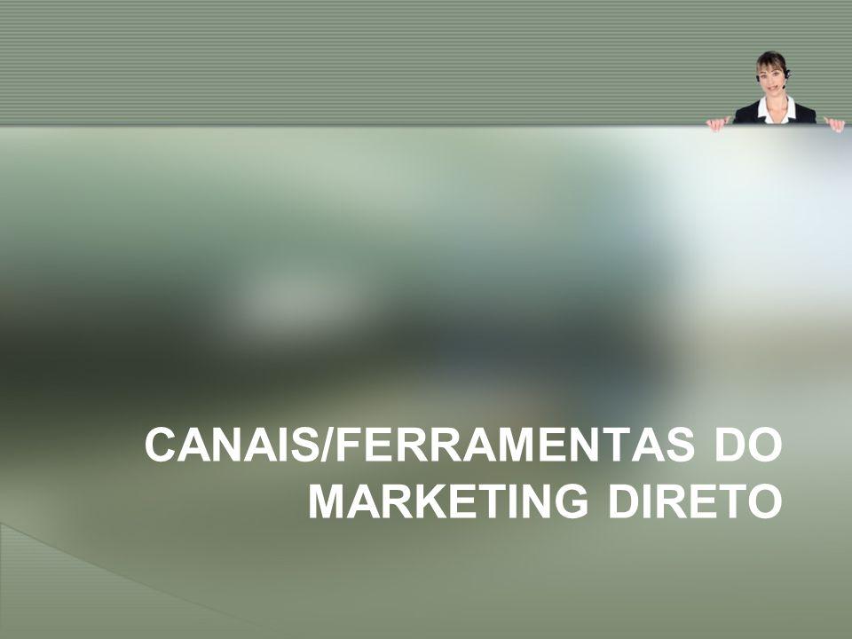 CANAIS/FERRAMENTAS DO MARKETING DIRETO