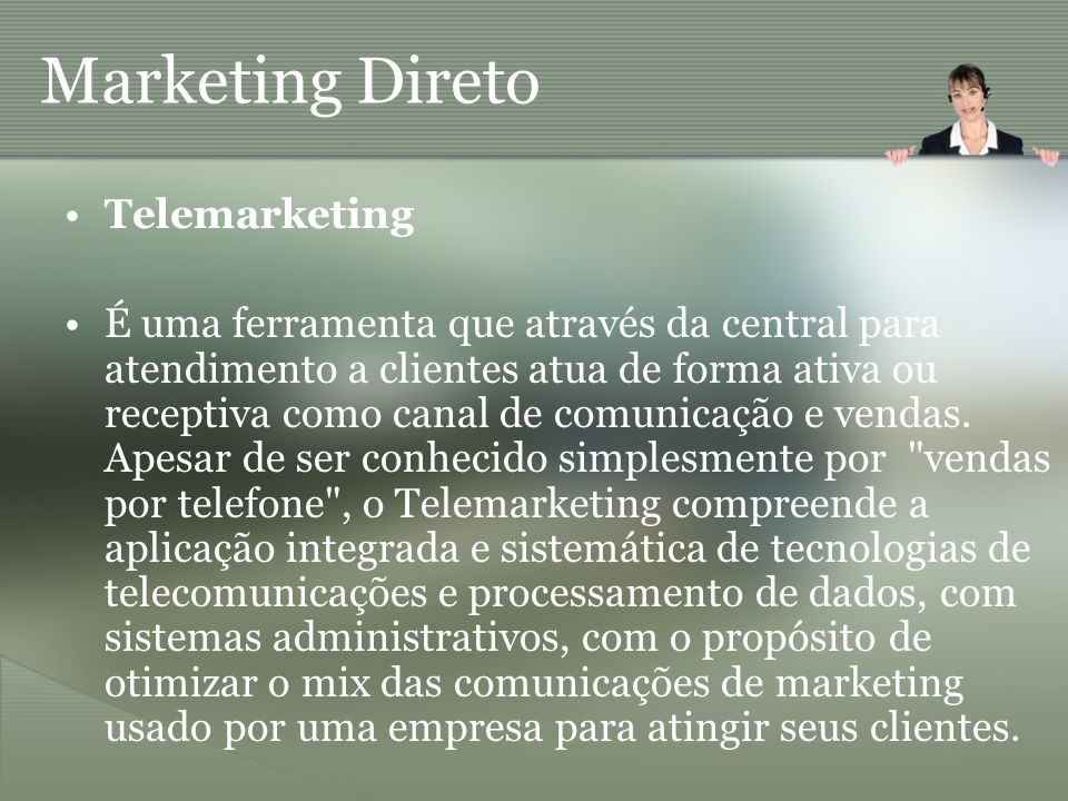 Marketing Direto Telemarketing