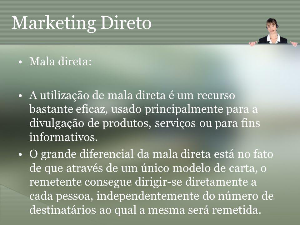 Marketing Direto Mala direta: