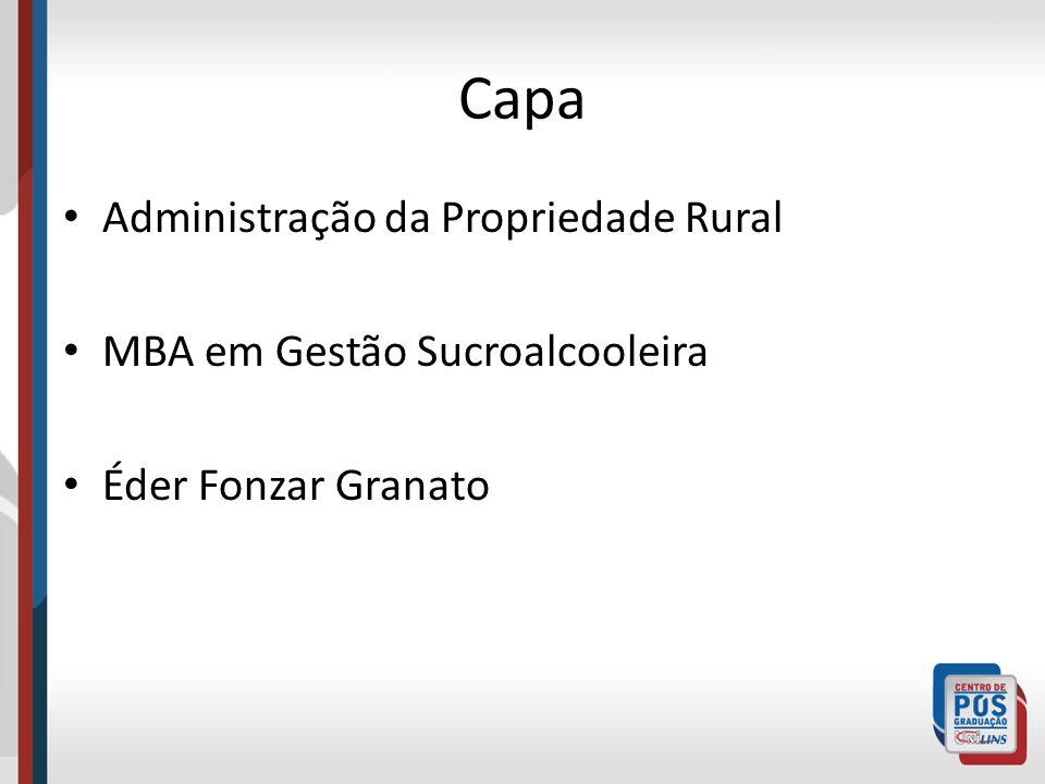 Capa Administração da Propriedade Rural MBA em Gestão Sucroalcooleira