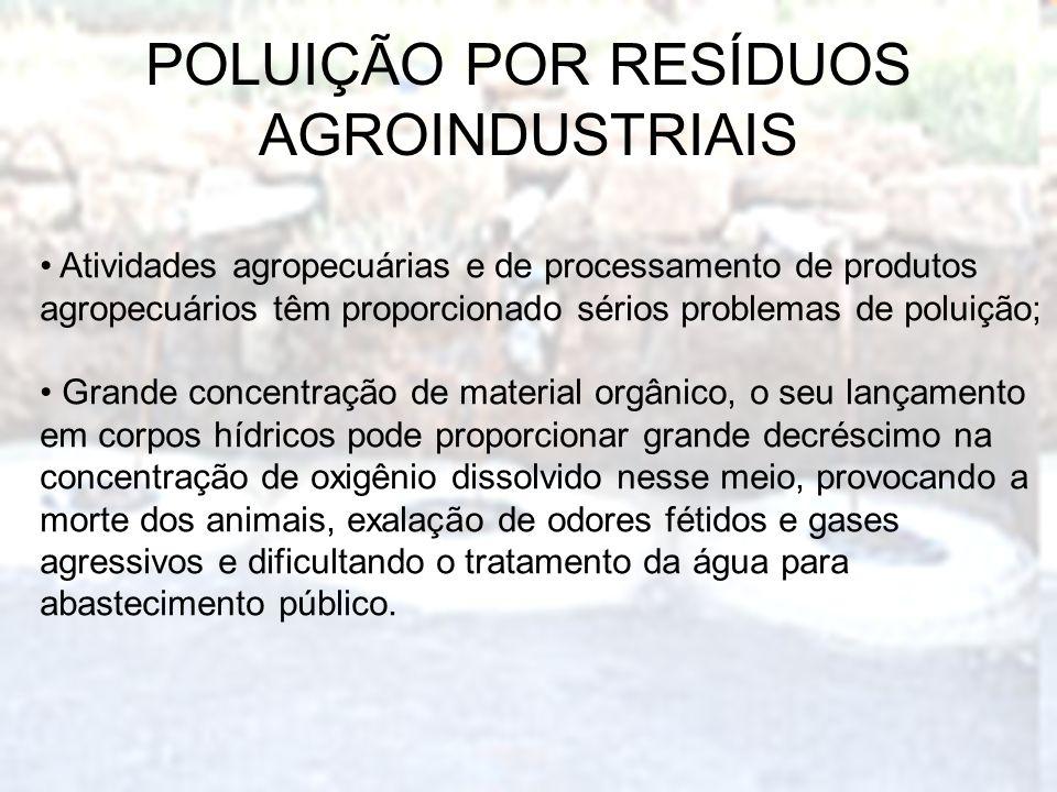POLUIÇÃO POR RESÍDUOS AGROINDUSTRIAIS