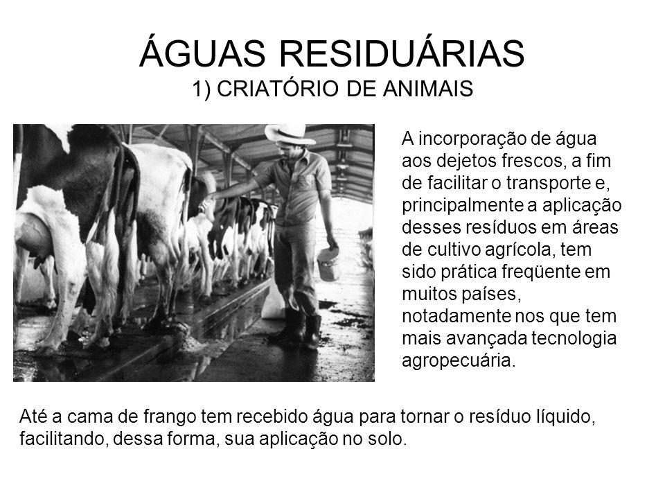 ÁGUAS RESIDUÁRIAS 1) CRIATÓRIO DE ANIMAIS