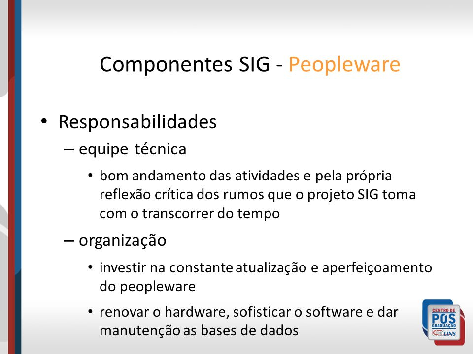 Componentes SIG - Peopleware