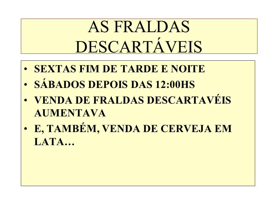 AS FRALDAS DESCARTÁVEIS