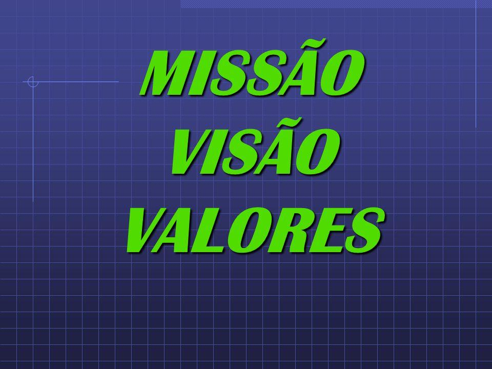 MISSÃO VISÃO VALORES