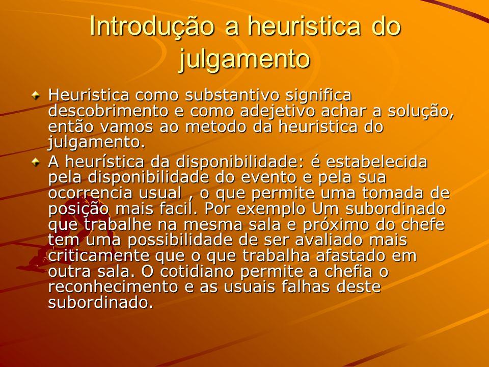 Introdução a heuristica do julgamento