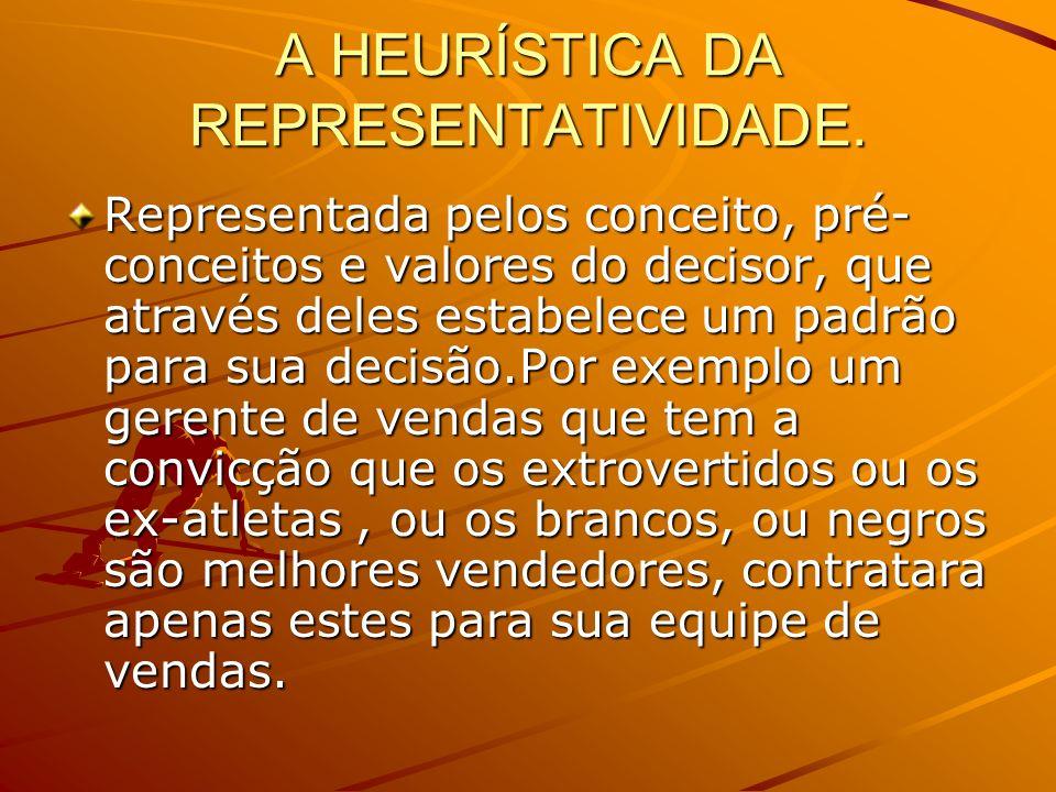 A HEURÍSTICA DA REPRESENTATIVIDADE.