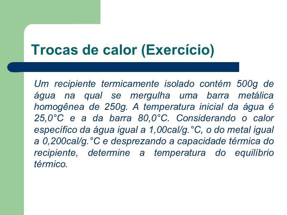 Trocas de calor (Exercício)