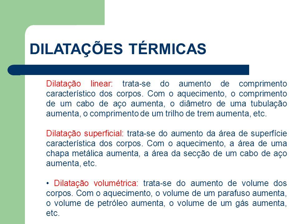 DILATAÇÕES TÉRMICAS