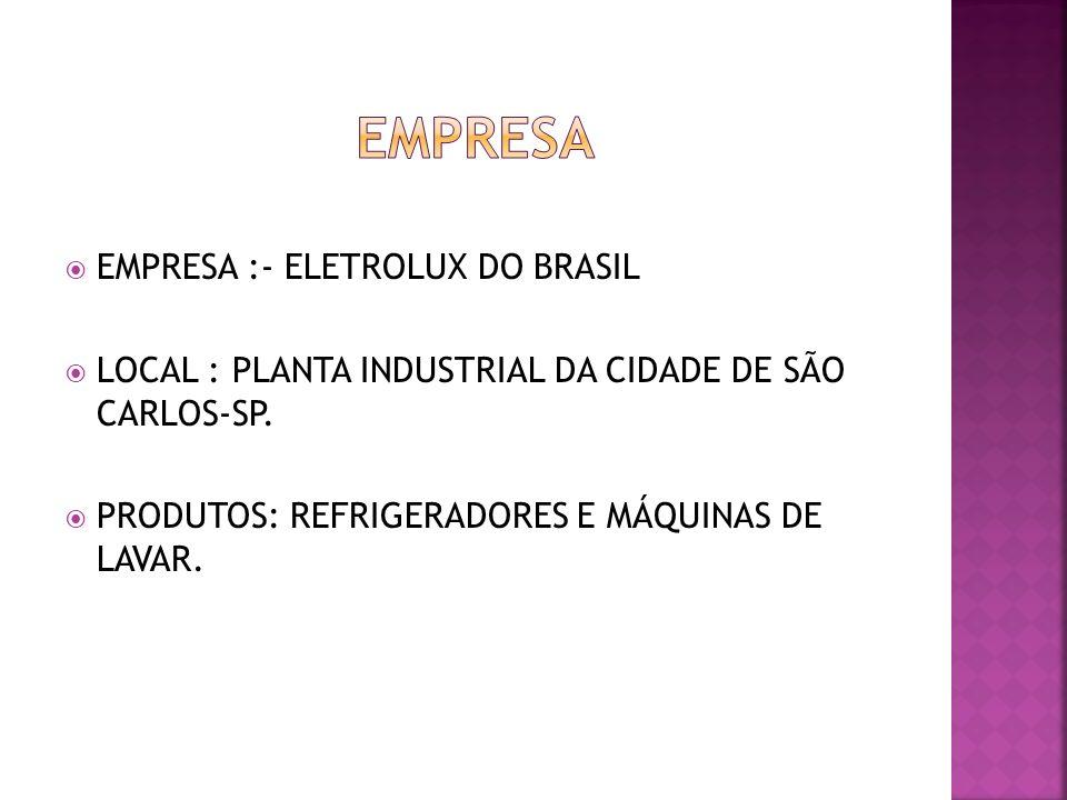 EMPRESA EMPRESA :- ELETROLUX DO BRASIL