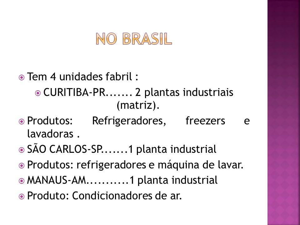 CURITIBA-PR....... 2 plantas industriais (matriz).