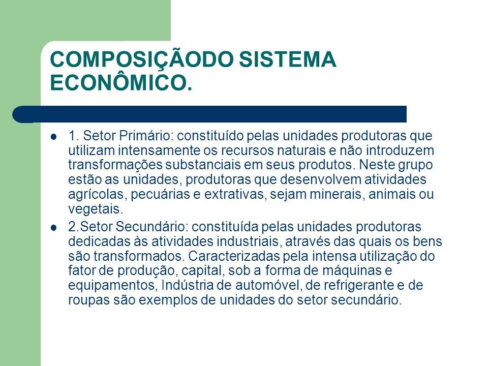 COMPOSIÇÃODO SISTEMA ECONÔMICO.