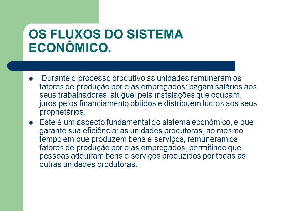 OS FLUXOS DO SISTEMA ECONÔMICO.