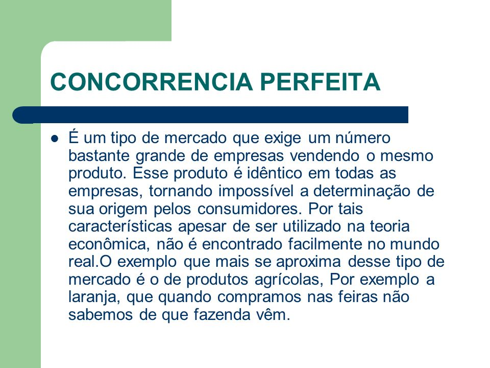 CONCORRENCIA PERFEITA