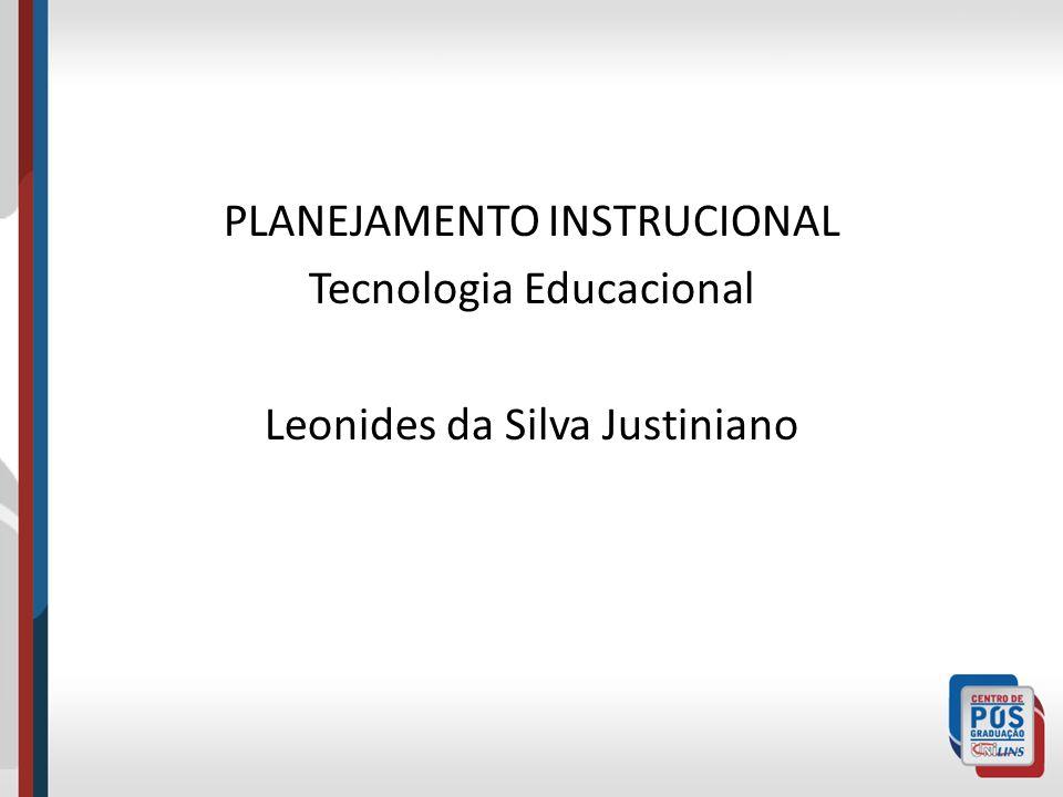 PLANEJAMENTO INSTRUCIONAL Tecnologia Educacional