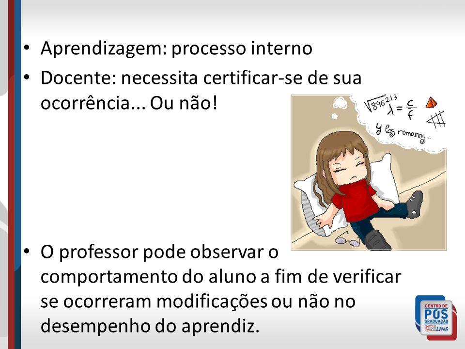 Aprendizagem: processo interno