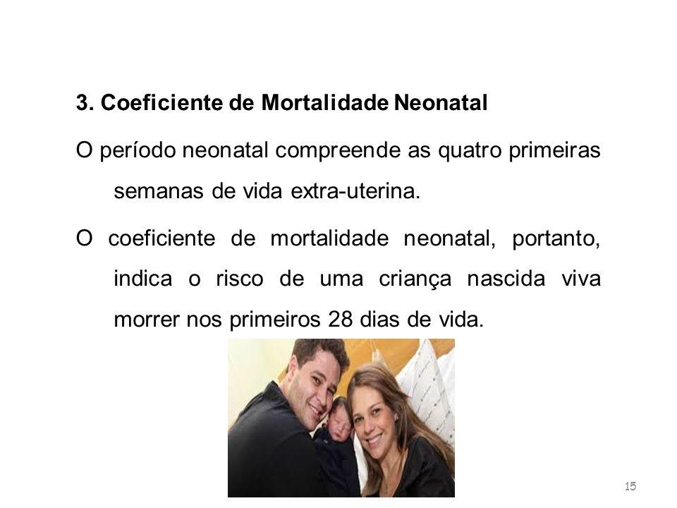 3. Coeficiente de Mortalidade Neonatal