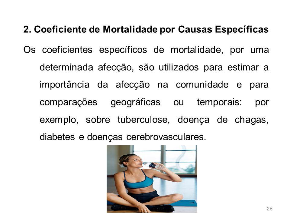 2. Coeficiente de Mortalidade por Causas Específicas