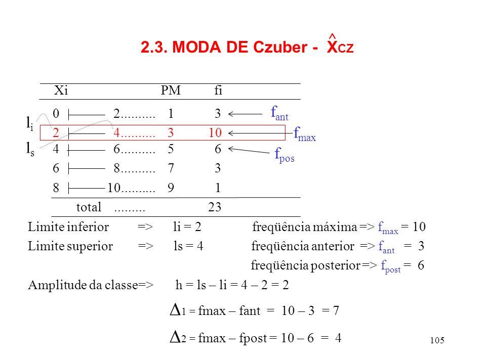 Xi PM fi 1 = fmax – fant = 10 – 3 = 7 2 = fmax – fpost = 10 – 6 = 4