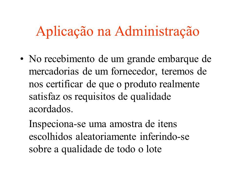 Aplicação na Administração
