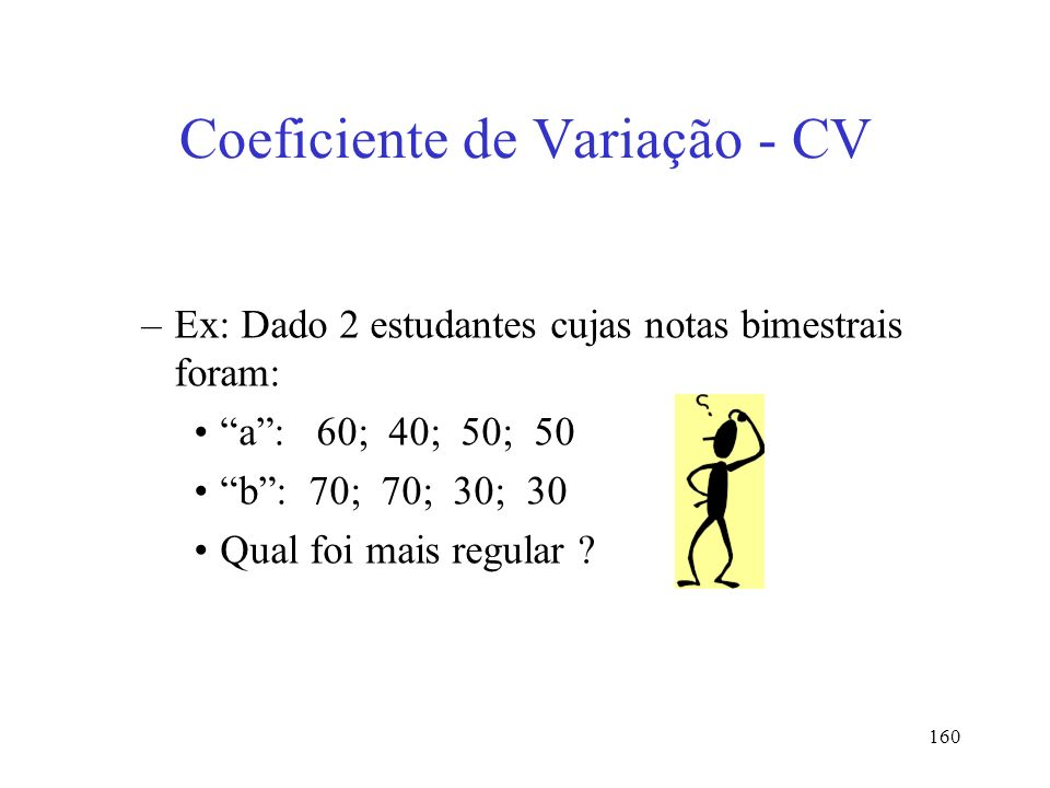 Coeficiente de Variação - CV