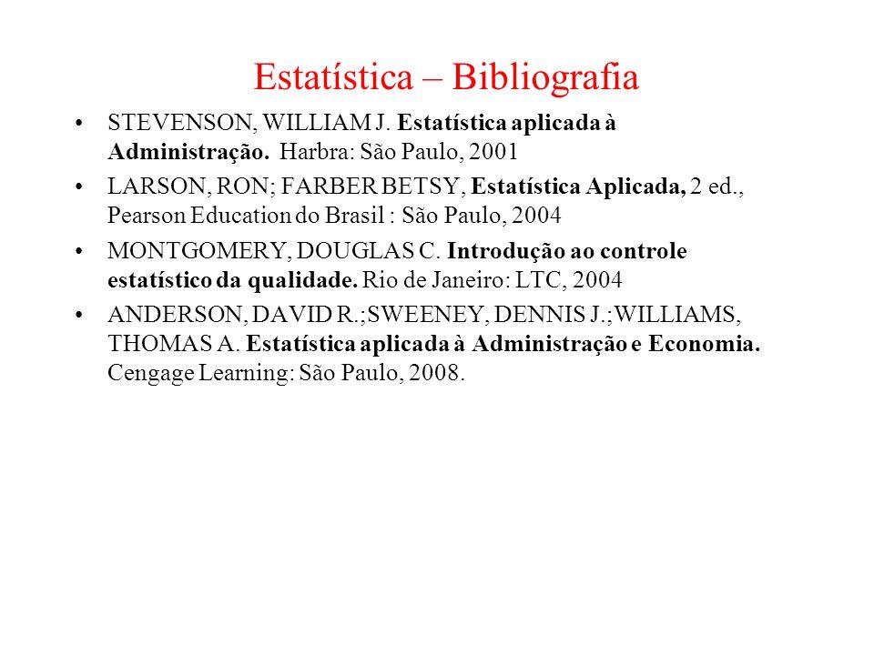 Estatística – Bibliografia