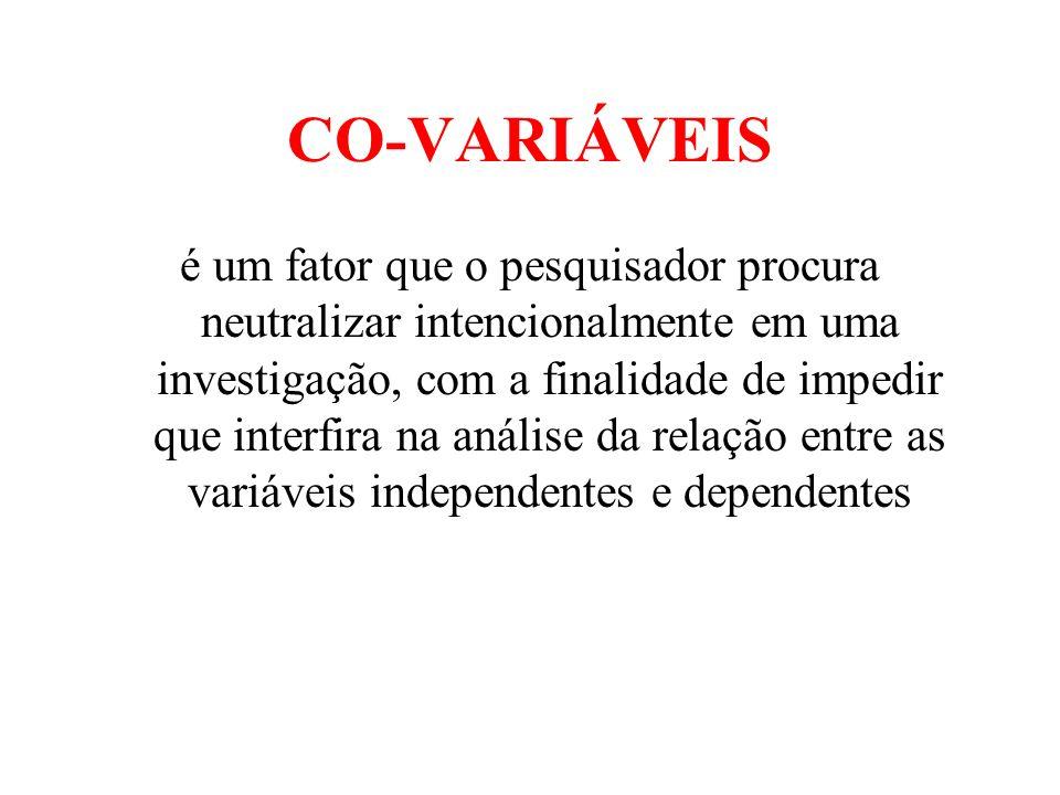 CO-VARIÁVEIS