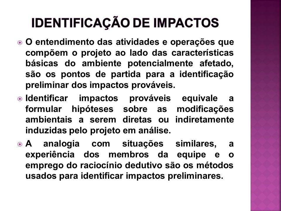 IDENTIFICAÇÃO DE IMPACTOS