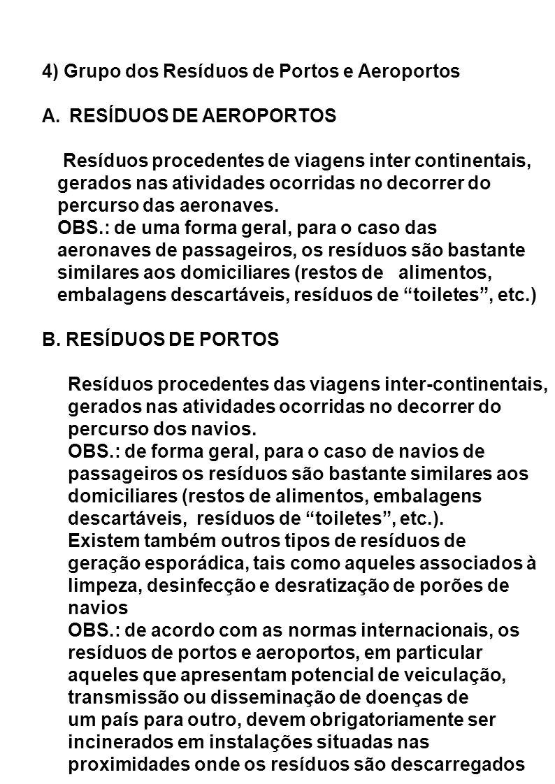 4) Grupo dos Resíduos de Portos e Aeroportos