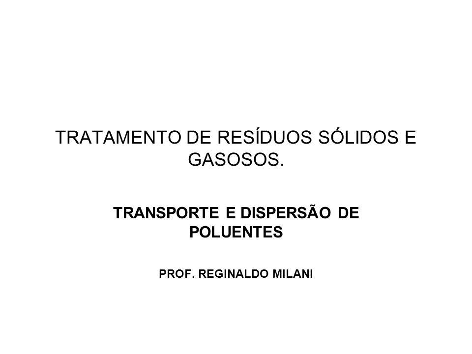 TRATAMENTO DE RESÍDUOS SÓLIDOS E GASOSOS.