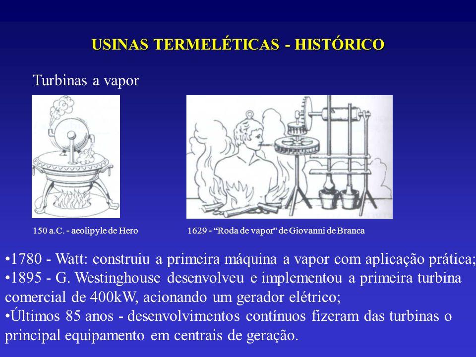 USINAS TERMELÉTICAS - HISTÓRICO