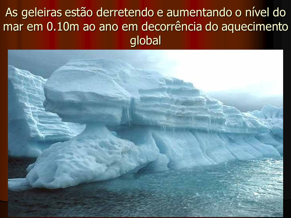 As geleiras estão derretendo e aumentando o nível do mar em 0