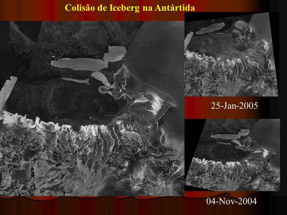 Colisão de Iceberg na Antártida