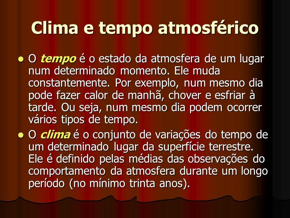 Clima e tempo atmosférico