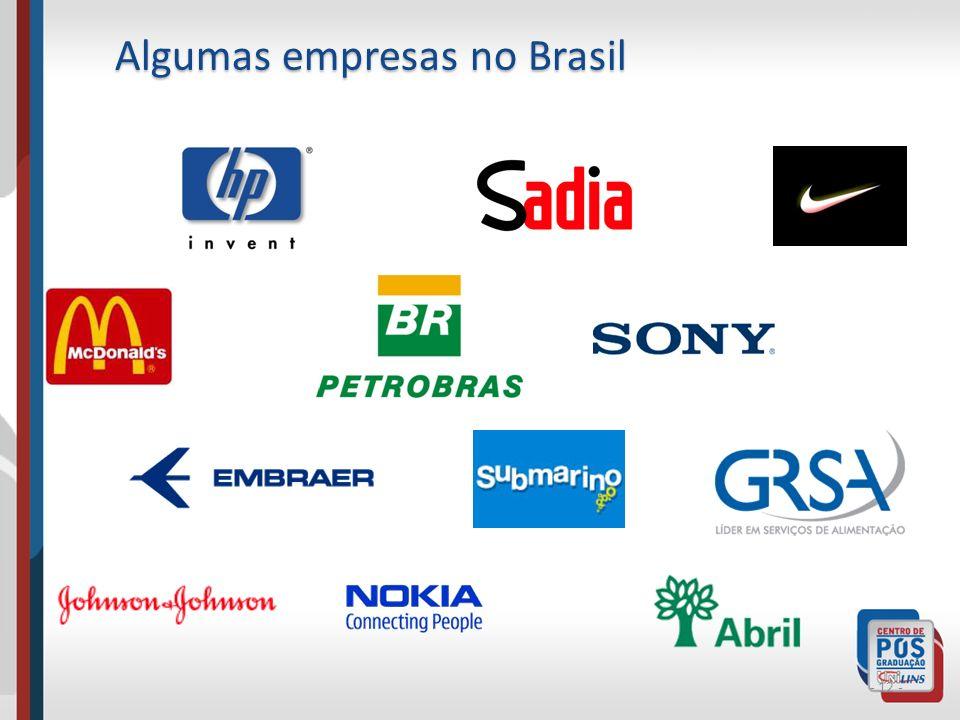 Algumas empresas no Brasil